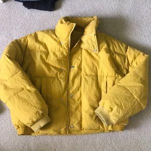 Free people yellow puffer jacket
